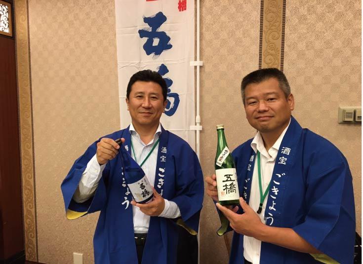 左:酒井社長 右:仲間杜氏